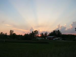 Sunset in Lacota, MI