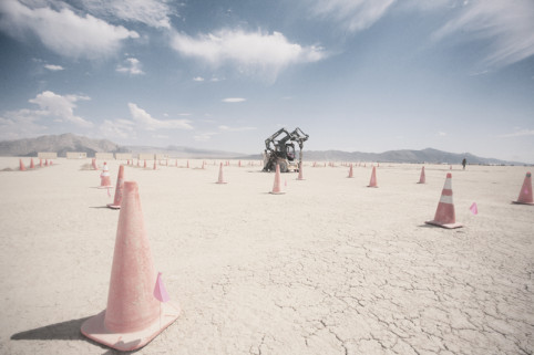 All over the playa, everywhere, random acts of construction are committed.