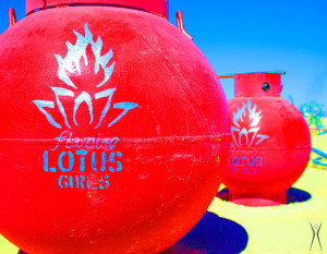 Flaming Lotus Girls' MASSIVE propane tanks, 2009 (Photo by Caroline Miller)