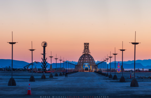 The Temple of Grace at Sunrise, Burning Man 2014