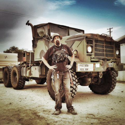 Railroad Mike and his M931 A1 six-wheel-drive truck